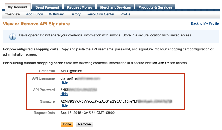 View or Remove API Signature - PayPal 2016-06-22 13-06-54