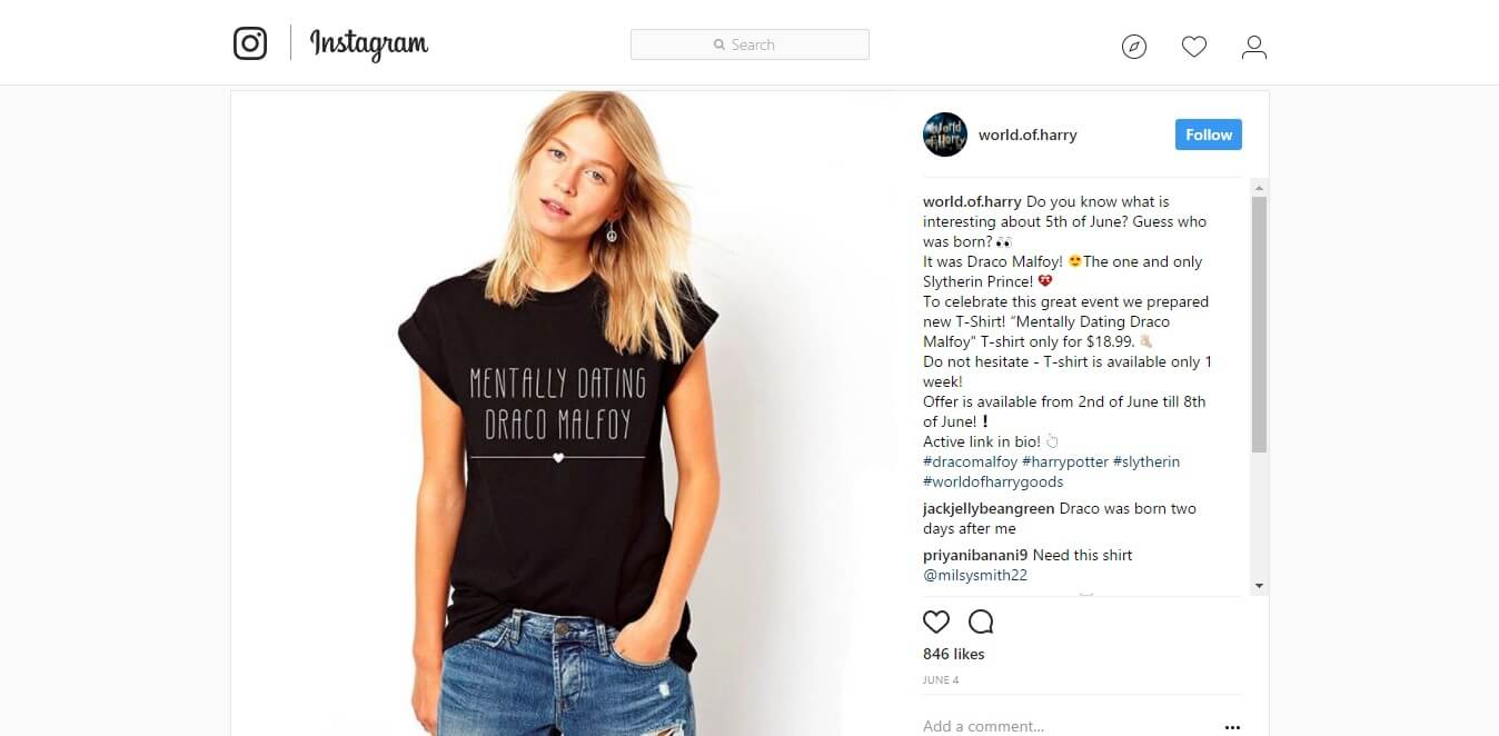 how to promote dropshipping business on Instagram
